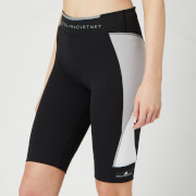adidas by Stella McCartney Women's Running Over Knee Thr Shorts - Black/Grey/White - XS