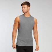 MP pánské tričko bez rukávů s hlubokými průramky Essentials – Šedé melírované