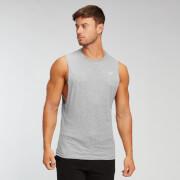 MP Essentials hemd voor heren met laag uitgesneden armsgaten - Grijs gemêleerd
