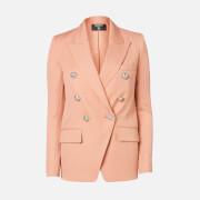 Balmain Women's Oversized 6 Button Peak Lapel GDP Jacket - Nude - FR 38/UK 10