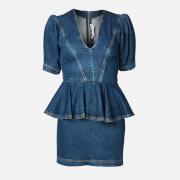 ROTATE Birger Christensen Women's Mindy Dress - Medium Blue - DK 34/UK 8