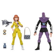 NECA Teenage Mutant Ninja Turtles Cartoon Series April O'Neil and Foot Soldier 2 Pack