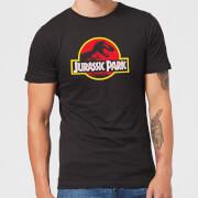 Classic Jurassic Park Logo Men's T-Shirt - Black