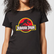 Classic Jurassic Park Logo Women's T-Shirt - Black