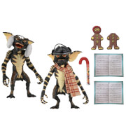 "NECA Gremlins - 7"" Scale Action Figure - Christmas Carol Winter Scene 2-Pack"