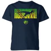 Jurassic Park Run! Kids' T-Shirt - Navy