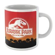 Jurassic Park Sunset Logo Mug
