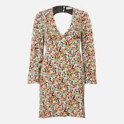 RIXO Women's Sophie Mini Dress - Retro Micro Floral - XS
