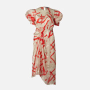 Preen By Thornton Bregazzi Women's Yoko Midi Dress - Ivory/Red - XS