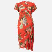 Preen By Thornton Bregazzi Women's Meggy Dress - Red Lotus Flower - XS