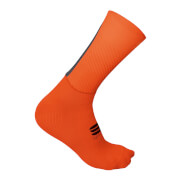 Sportful Evo Socks - S - Fire Red/Orange SDR/Anthracite