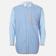 White Mountaineering Men's Striped Big Shirt - Blue - S
