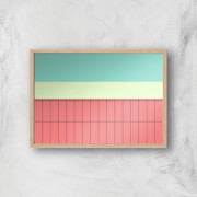 Pool Side Giclee Art Print   A4   Wooden Frame