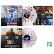 Sonic The Hedgehog: Music From The Motion Picture Zavvi Exclusive Red and Blue Splatter LP