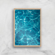 Sun Reflecting Off The Pool Giclee Art Print   A4   Wooden Frame