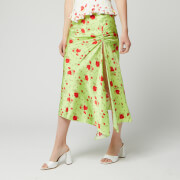 De La Vali Women's Caroline Midi Skirt - Green Rose - UK 6