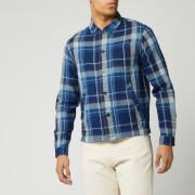 ymc men's bowling shirt - navy - l