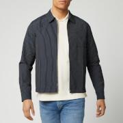 ymc men's bowie zip shirt - navy - xl