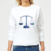 Libra Womens Sweatshirt - White - M - White
