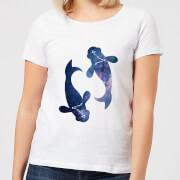 Pisces Womens T-Shirt - White - L - White