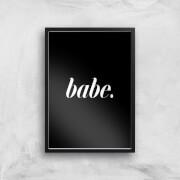 babe black giclee art print - a3 - black frame