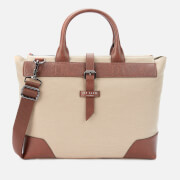 Ted Baker Men's Litle Recycled Canvas Document Bag - Natural