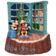 Disney Traditions Carved by Heart Mickey Mouse Christmas Carol Figurine 20cm