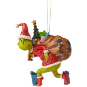 The Grinch by Jim Shore Grinch Tiptoeing (Hanging Ornament) 11.5cm