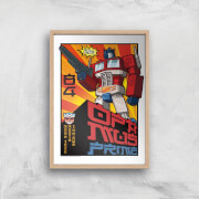 Transformers Roll Out Poster Art Print   A4   Wooden Frame