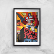 Transformers Roll Out Poster Art Print   A4   Black Frame