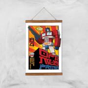 Transformers Roll Out Poster Art Print   A3   Wooden Hanger