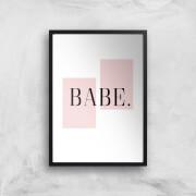 babe art print - a2 - black frame