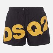 Dsquared2 Men's Large Logo Swim Shorts - Black/Yellow - S