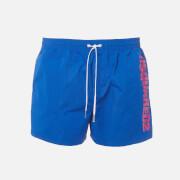 Dsquared2 Men's Vertical Logo Swim Shorts - Blue/Pink - S
