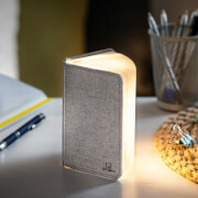 Gingko Linen Fabric Mini Smart Book Light - Urban Grey