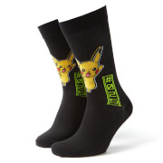 Men's Pokemon Pikachu Socks - Black