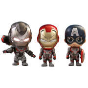 Hot Toys Avengers: Endgame Cosbaby Captain America, Iron Man and War Machine - Size S (Team Suit Version) (Set of 3)