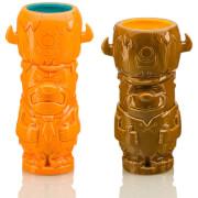 Beeline Creative The Flintstones Fred and Barney Geeki Tikis Mug 2-Pack