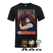 Pack Star Wars Han Solo: Camiseta + 3 Funko Pop!