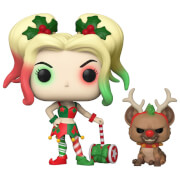 DC Comics Holiday Harley Quinn With Helper Pop! Vinyl Figure