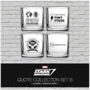 Marvel Iron Man Stark Industries Glass Set 4 pack Set 2