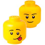 LEGO Storage Head Bundle (Includes 1 Boy and 1 Silly Small Storage Head)