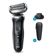 Braun Series 7 Master 70-N1200s Electric Shaver - Black - Precision Trimmer