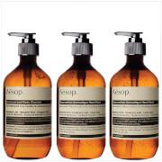 Купить Aesop Geranium Cleanser, Resurrection and Reverence Hand Wash Bundle