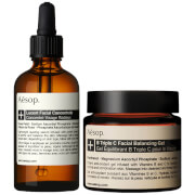 Aesop Lucent Concentrate and Triple C Balancing Gel Duo фото