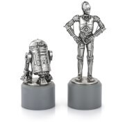 Royal Selangor Star Wars Pewter Chesspieces - R2D2 and C3PO (Knight)