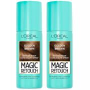 Купить L'Oréal Paris Magic Retouch Golden Brown Root Concealer Spray Duo Pack