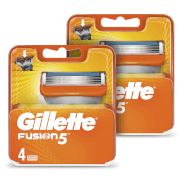 Fusion5 Men's Razor Blades (8 Pack) - 6 Month Bundle