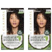 Clairol Natural Instincts Semi-Permanent No Ammonia Vegan Hair Dye Duo (Various Shades) - 4 Dark Brown фото