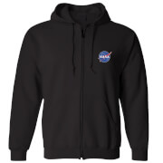 NASA Meatball Unisex Zipped Hoodie - Black